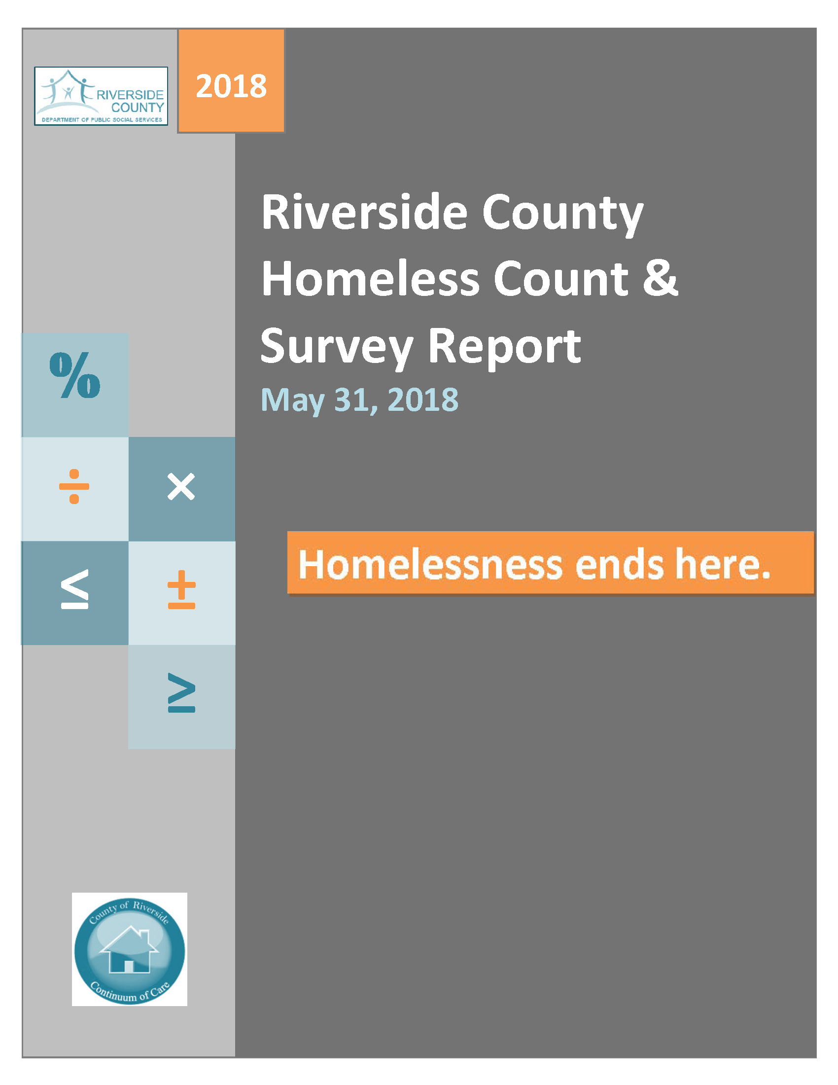 Riverside County Homeless Count & Survey Report